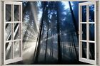 Huge 3D Window view Enchanted Forest Wall Sticker Film Art Decal Wallpaper
