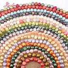 5-7MM FREEFORM FRESHWATER PEARL SPACER BEADS FOR DIY JEWELRY MAKING STRAND 15""