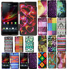 For Sony Xperia Z Yuga C6603 C6606 Geometric Snap On HARD Case Cover Accessory