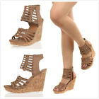DV by Dolce Vita TILA Caged Platform Wedge Sandals Women Shoes