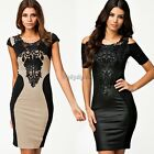 35DI European Fashion Women Bodycon Bandage Dress Casual Dress with Embroidery