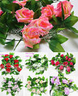 8.2ft Artificial Silk Rose flower Leaf ivy green Plant Store Home Party Wedding