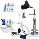 Dental Teeth Whitening Accelerator Bleaching LED Curing Light +Whitening Gel Kit