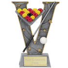 POOL BILLIARDS TROPHY TROPHIES WINNER 3 SIZES AVAILABLE ENGRAVED FREE