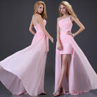 Long Back Chiffon Prom Evening Bridesmaid Dress Grace Karin JS Sweetheart Fitted