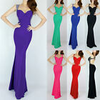 Party Prom Formal Strap Backless Cocktail Evening Gown Long Maxi Bridemaid Dress