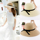 Women's Brim Summer Beach Sun Hat Straw Wide Brim floppy Elegant Bohemia cap