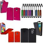 Stylish Pu Leather Magnetic Flip Case Cover + Stylus For Various Mobile Phones