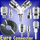 EURO air line hose quick connector bayonet coupler adaptor splitter hi flow way