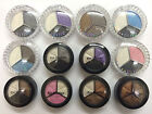 3 colours smoky eye shadow palette collection black/brown/white/pink/blue/purple