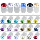 1x Clip No Piercing Hole Magnetic Magnet Crystal Fake Cheater Earring Ear Stud