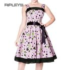 HELL BUNNY 50s Rockabilly DIXIE DRESS Pin Up PINK Vintage All Sizes