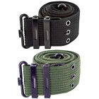 Cotton Military Pistol Belt with Easy Fasten Metal Buckle Army PARA Security SAS