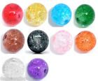100 Crackle Glass Round Beads 8mm M0255