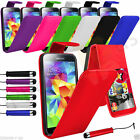 7 Colour Leather Flip Mobile Phone Case For Samsung Galaxy S5 + Small Pen