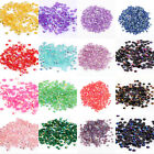 2000 Half Round AB Color Acrylic Rhinestone Crystal Bead Flatback For Crafts 3mm