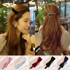 Kroean Lovely Women Girls Cotton Bowtie Headpin Hair Clip Barrette Hair Satin