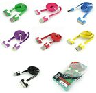 Lot Flat USB Data Charging Charger Cable Cord for Apple iPhone 4S 4 3GS iPod 4G