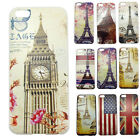 Luxury Tower Flag Patter Dustprrof Protector Case Skin Cover For Apple iPhone 5C