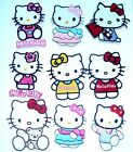 HELLO KITTY Iron On / Sew On Embroidered Patch Transfer for Kids Clothing