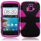 For AT&T GoPhone ZTE Radiant Z740 IMPACT TUFF HYBRID Case Skin Phone Covers