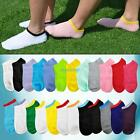 Casual Unisex Candy Color Ankle Boat Sock Sport Crew Soft No Show Low-Cut Socks