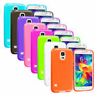 For Samsung Galaxy S5 SV TPU Transparent Color Soft Rubber Case Skin Cover