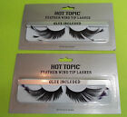 Hot Topic Purple or Black Feather Wing Tip False Eyelashes- Glue Included