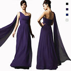 Long Flowing Formal One Shoulder Ball Gown Braidsmaid Evening Dress ed7560