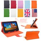 "Universal 7"" Inch Android Tablet Case Folio PU Leather Stand Folding Flip Cover"