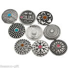 10PCs Snap Buttons Charms Pattern Carved Fit Snap Bracelets M2238