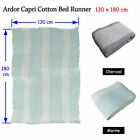 Marine OR Charcoal Color Choice - Capri 100% Cotton Bed Runner / Throw 130x180cm