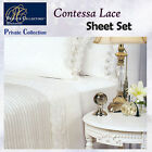100% Cotton CONTESSA White Sheet Set by Private Collection - QUEEN KING