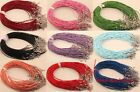 10/100pcs Hot Sale Real Leather Necklace with Lobster Clasp 2mm U Pick Color