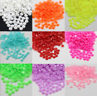 1000 x GLUE ON 3mm 4mm FACETED ACRYLIC FLATBACK RHINESTONES NAIL ART CRAFT GEM x
