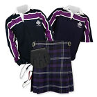 Kilt Outfit 'Sports Essential' - Purple Stripe Rugby Top - Heritage of Scotland