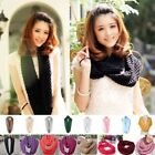 Women Warmer Woolen Knitting Collar Corn Cowl Loop Snood Neck Scarf Shawl Wrap