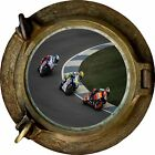Huge 3D Porthole Moto Gp View Wall Stickers Mural Film Art Decal Wallpaper