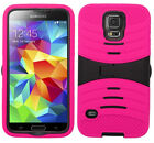 HOT PINK & BLACK U-Case Cover for (Verizon) Samsung Galaxy SV S5 SM-G900V