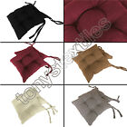 TIE ON CHUNKY SEAT PAD DINING ROOM GARDEN KITCHEN CHAIR CUSHION OUTDOOR NEW