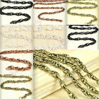 Hot Iron Woven Curb Chains Necklace Links Jewelry Making Findings Wholesale