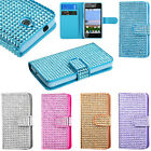 BOOK WALLET BLING Phone Cover Case for HUAWEI ASCEND PLUS H881C VALIANT Y301