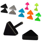 Triangle Stainless Steel Fake Cheater Ear Plug Stud Stretcher Earring Piercing