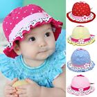 Baby Girls Sun Flower Polka Dot hearts Infant Cotton Summer Hat Cap  3-24 Months