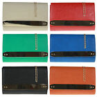Faux Leather Oversized Clutch Bag Designer Women Bag Studs Events Vintage Colors