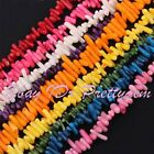 "3-5x5-10mm Freeform Shape Coral Gemstone For Jewelry Making Beads 15"" Pick Color"