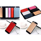 Brushed Aluminium Hard Back Case Cover For Apple iPhone 5 5S & iPhone 4 4S