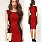 Womens Office Lady Style Slimming Sleeveless Business Party Bodycon Pencil Dress