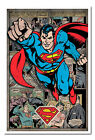 Superman Comic Montage Framed Cork Pin Memo Board With Pins