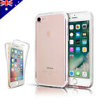 Ultra Thin Clear Soft Gel Case Cover 360° Protection For Apple iPhone 7 7 Plus